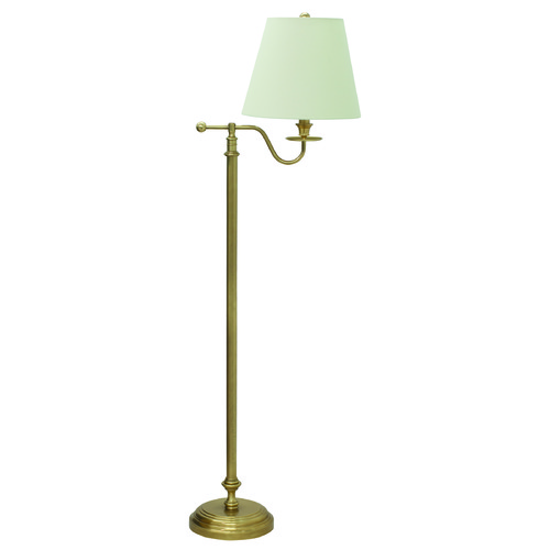 House of Troy Lighting House Of Troy Bennington Weathered Brass Floor Lamp with Empire Shade B502-WB