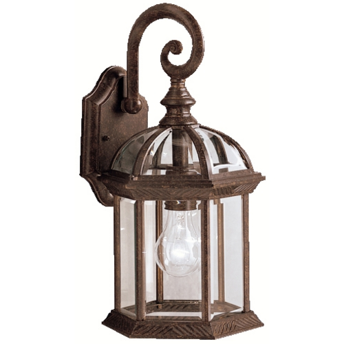 Kichler Lighting Kichler Outdoor Wall Light with Clear Glass in Tannery Bronze Finish 9735TZ