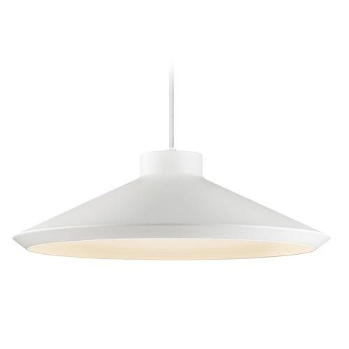 Sonneman Lighting Sonneman Koma Satin White LED Pendant Light with Coolie Shade 2754.03-G