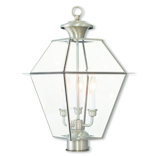 Livex Lighting Livex Lighting Westover Brushed Nickel Post Light 2384-91