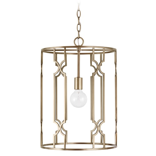 Capital Lighting Capital Lighting Jordyn 1-Light Aged Brass Pendant Light 338911AD