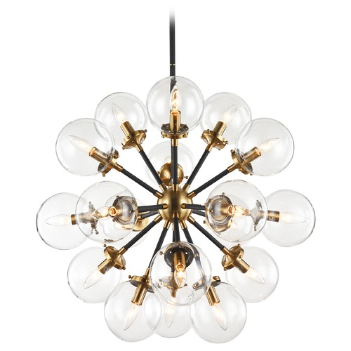 Matteo Lighting Matteo Lighting Soleil Aged Gold Brass Chandelier C62818AGCL