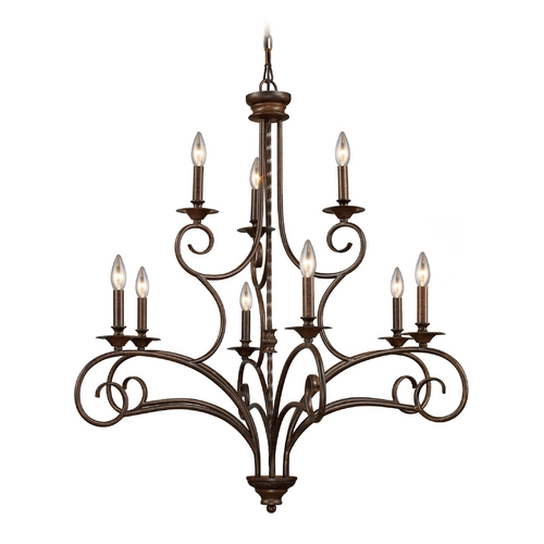Elk Lighting Chandelier in Antique Bronze Finish 15043/6+3