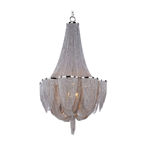 Maxim Lighting Maxim Lighting Chantilly Polished Nickel Pendant Light 21465NKPN