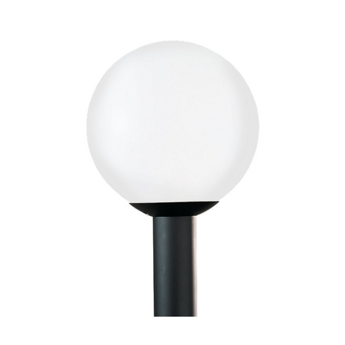Sea Gull Lighting White Globe Post Light - 15-Inches Tall 8254-68