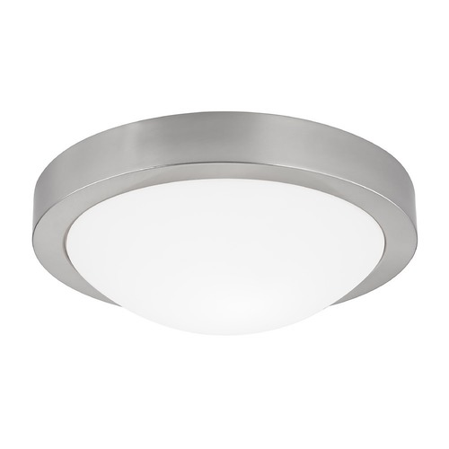 Design Classics Lighting Modern Ceiling Light with White Glass - 11-Inches Wide 4011-09