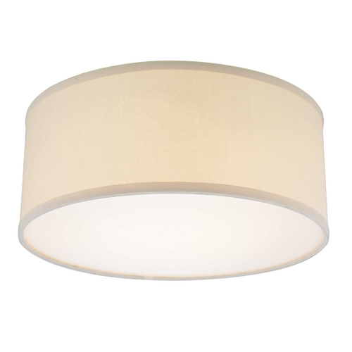 Recesso Lighting by Dolan Designs Decorative Ceiling Trim for Recessed Lights with Beige Drum Shade 10663-09