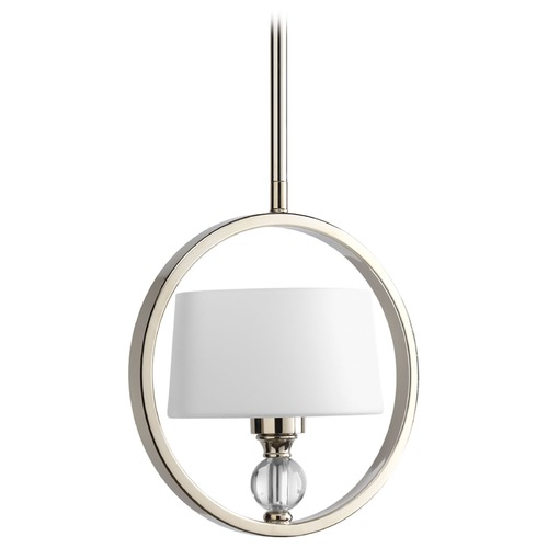 Progress Lighting Progress Modern Drum Mini-Pendant Light in Polished Nickel Finish P5007-104