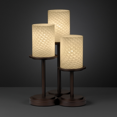 Justice Design Group Justice Design Group Fusion Collection Table Lamp FSN-8797-10-WEVE-DBRZ