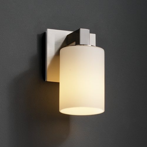 Justice Design Group Justice Design Group Fusion Collection Sconce FSN-8921-10-OPAL-NCKL
