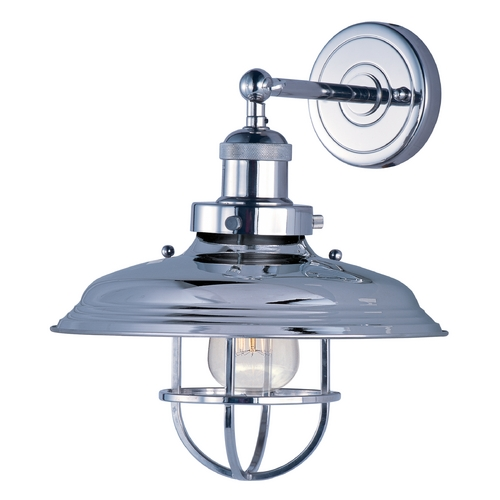 Maxim Lighting Maxim Lighting Mini Hi-Bay Polished Nickel Sconce 25071PN