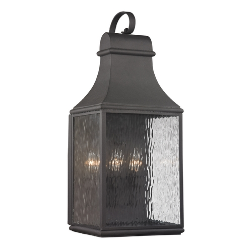 Elk Lighting Outdoor Wall Light with Clear Glass in Charcoal Finish 47073/3