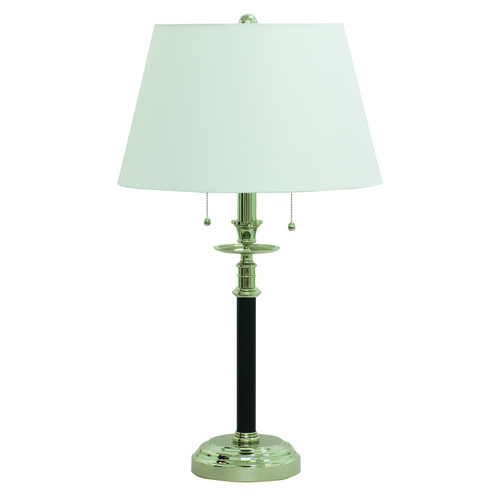 House of Troy Lighting House Of Troy Bennington Black with Polished Nickel Table Lamp with Empire Shade B550-BPN