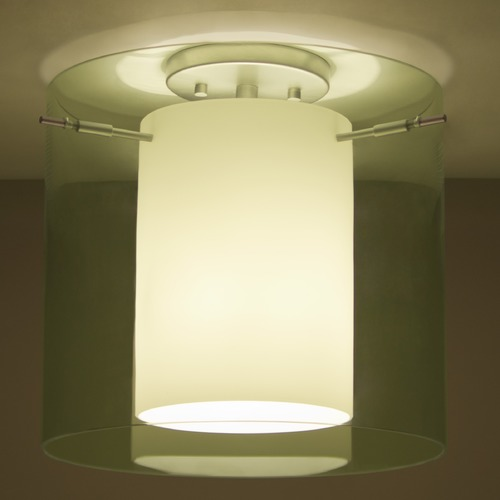 Besa Lighting Besa Lighting Pahu Satin Nickel LED Semi-Flushmount Light 1KM-L18407-LED-SN