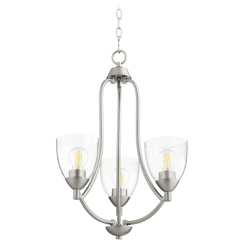 Quorum Lighting Quorum Lighting Barkley Satin Nickel Mini-Chandelier 6069-3-265