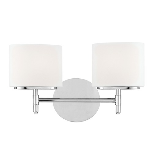 Hudson Valley Lighting Modern Bathroom Light with White Glass in Polished Chrome Finish 8902-PC