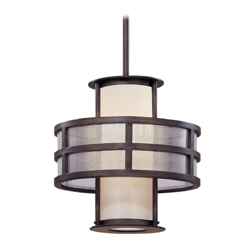 Troy Lighting Pendant Light with White Glass FF2734