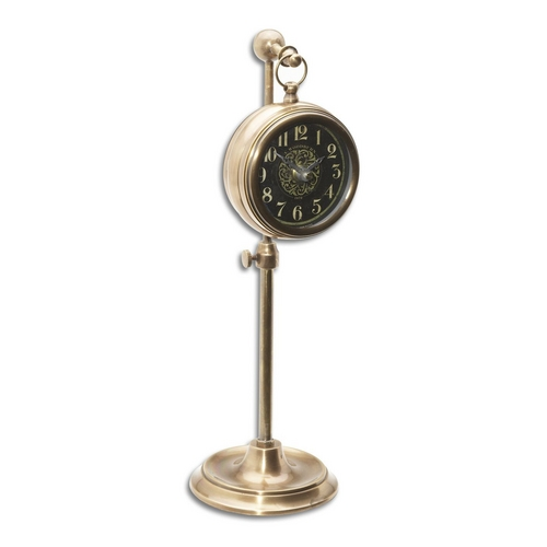 Uttermost Lighting Clock in Brass Finish 06069