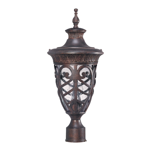 Nuvo Lighting Post Light with Clear Glass in Dark Plum Bronze Finish 60/2059