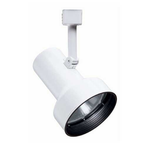 Juno Lighting Group Modern Track Light Head in White Finish R512 BLB WH