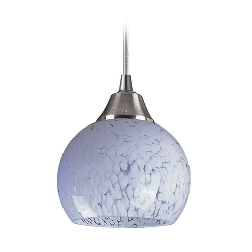 Elk Lighting Elk Lighting Mela Satin Nickel LED Mini-Pendant Light with Bowl / Dome Shade 101-1SW-LED
