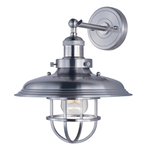 Maxim Lighting Maxim Lighting Mini Hi-Bay Satin Nickel Sconce 25071SN