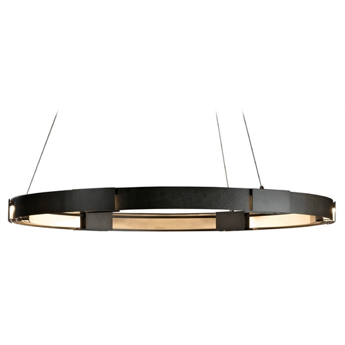 Hubbardton Forge Lighting Hubbardton Forge Lighting Aura Dark Smoke LED Pendant Light 138589D-07-ZM394