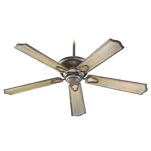 Quorum Lighting Quorum Lighting Ashfield Walnut with Antique Flemish Ceiling Fan Without Light 72565-24