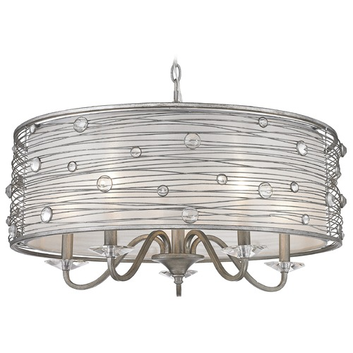 Golden Lighting Golden Lighting Joia Peruvian Silver Chandelier 1993-5 PS