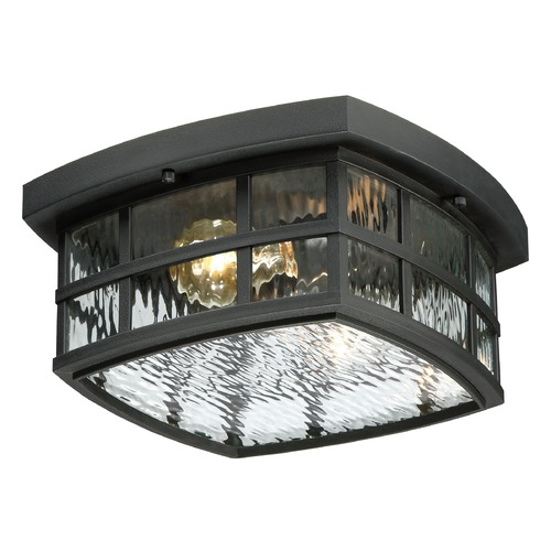 Quoizel Lighting Quoizel Stonington Mystic Black Close To Ceiling Light SNN1612K
