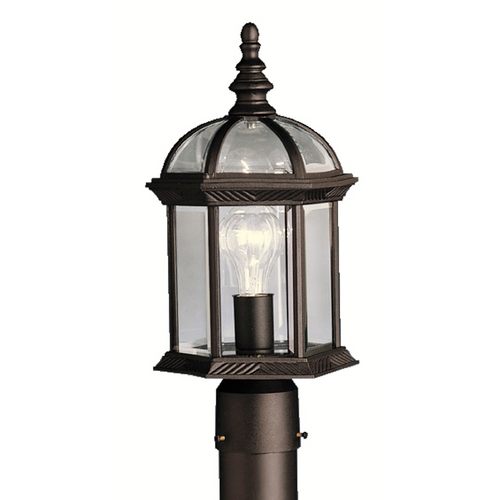 Kichler Lighting Kichler Post Light with Clear Glass in Black Finish 9935BK