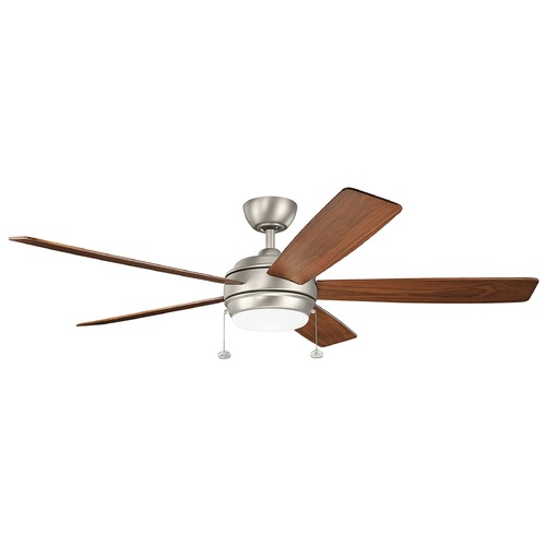 Kichler Lighting Kichler Lighting Starkk Brushed Nickel LED Ceiling Fan with Light 330180NI