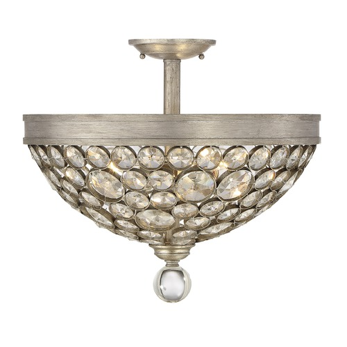 Savoy House Savoy House Lighting Obsidian Argentum Semi-Flushmount Light 6-832-3-211