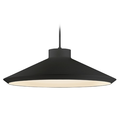 Sonneman Lighting Farmhouse Pendant Light Black Koma by Sonneman Lighting 2754.25-E