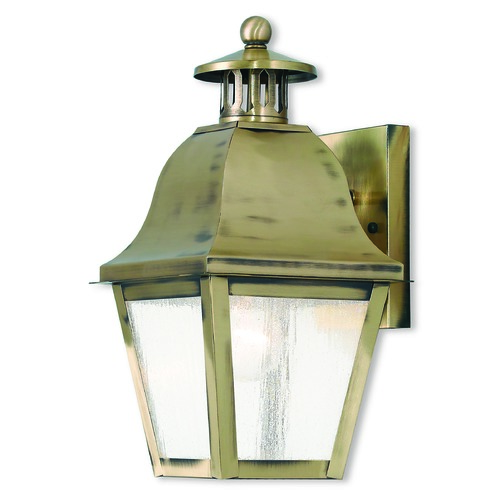 Livex Lighting Livex Lighting Amwell Antique Brass Outdoor Wall Light 2550-01