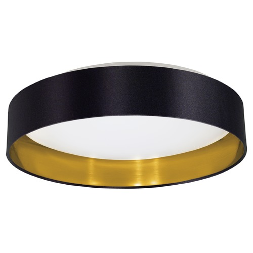 Eglo Lighting Eglo Maserlo Black & Gold LED Flushmount Light 31622A