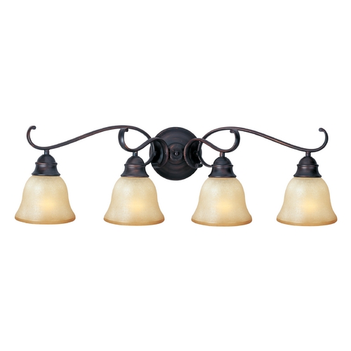 Maxim Lighting Bathroom Light with Beige / Cream Glass in Oil Rubbed Bronze Finish 85810WSOI
