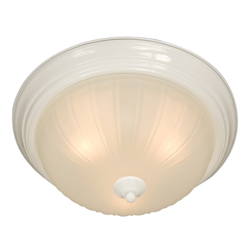 Maxim Lighting Flushmount Light with White Glass in White Finish 5832FTWT