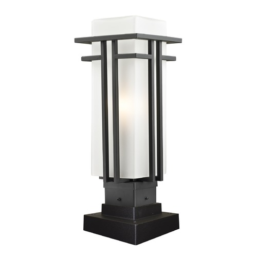 Z-Lite Z-Lite Abbey Outdoor Rubbed Bronze Post Light 550PHM-SQPM-ORBZ