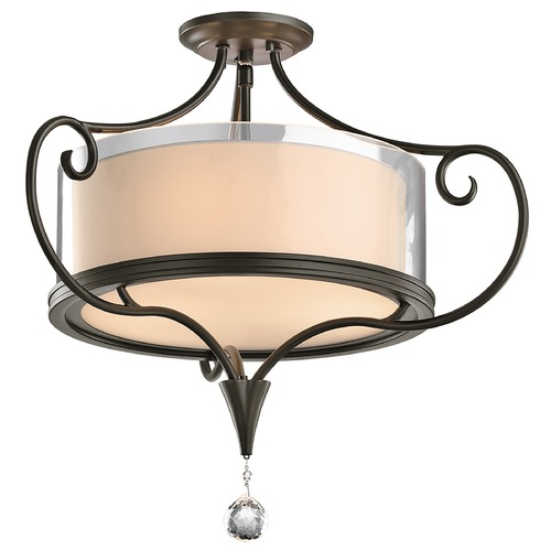 Kichler Lighting Kichler Semi-Flushmount Lights in Shadow Bronze Finish 42866SWZ