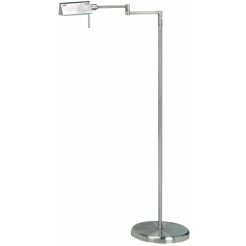 Lite Source Lighting Modern Swing Arm Lamp in Satin Steel Finish LS-960SS