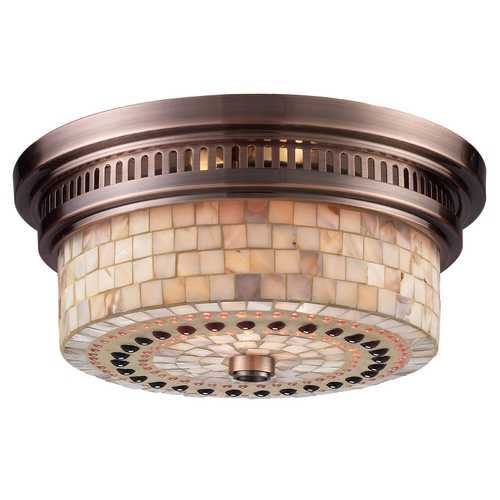 Elk Lighting Flushmount Light in Antique Copper Finish 66441-2