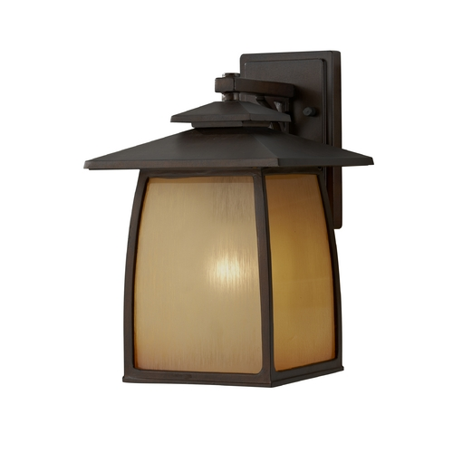 Feiss Lighting Outdoor Wall Light with Beige / Cream Glass in Sorrel Brown Finish OL8502SBR