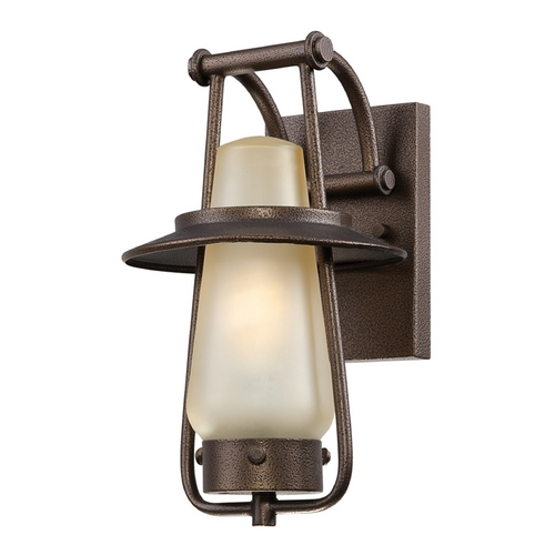 Designers Fountain Lighting Outdoor Wall Light with Beige / Cream Glass in Flemish Bronze Finish ES32021-FBZ