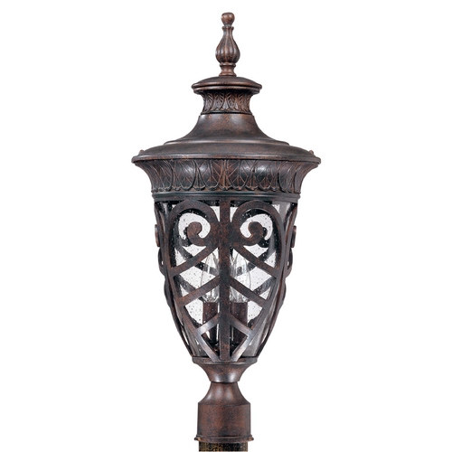 Nuvo Lighting Post Light with Clear Glass in Dark Plum Bronze Finish 60/2060