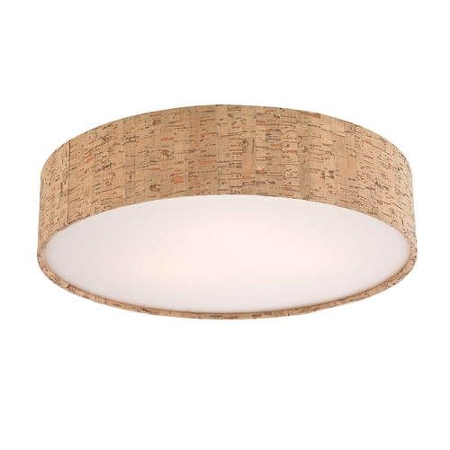Recesso Lighting by Dolan Designs Decorative Ceiling Trim for Recessed Lights with Cork Drum Shade 10710-00