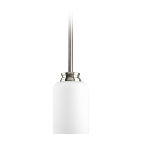 Progress Lighting Progress Mini-Pendant Light with White Glass P5114-09