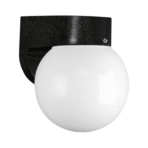 Progress Lighting Mid-Century Modern Outdoor Wall Light Black Polycarbonate Outdoor by Progress Lighting P5813-31