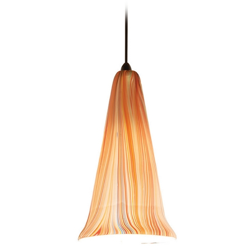 WAC Lighting Wac Lighting Artisan Collection Dark Bronze Mini-Pendant with Conical Shade MP-630-SF/DB