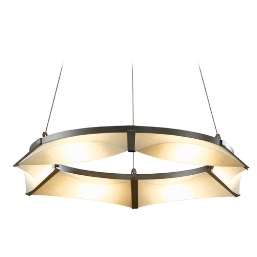 Hubbardton Forge Lighting Hubbardton Forge Lighting Bento Burnished Steel LED Pendant Light 138650-LED-STND-08-SH1974